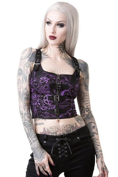 Killstar Miss Morbid Hold Tight Top