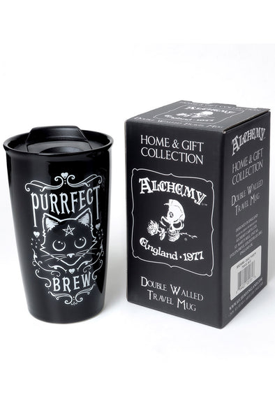 Purrfect Brew: Double Walled Travel Mug