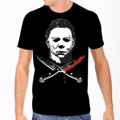 "Rock Rebel ""Michael Myers"" Cross Knives Men's Tee"