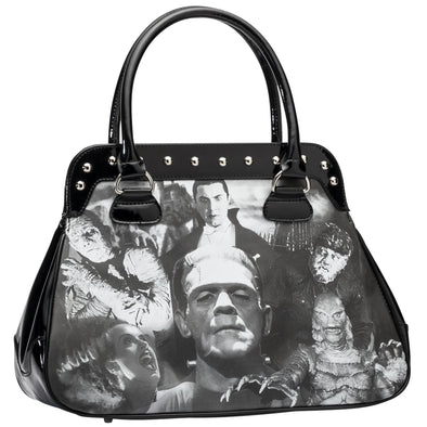 Rock Rebel Monster Collage Handbag