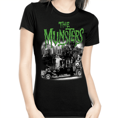 "Rock Rebel ""The Munsters"" Family Coach Women's Tee"