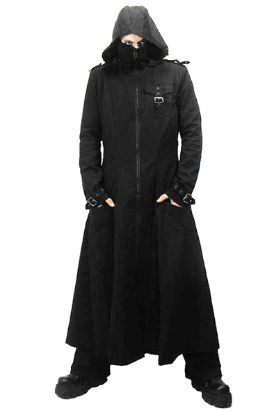 Necessary Evil Marduk Mens Hooded Trenchcoat