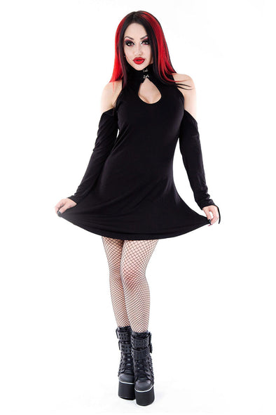 Necessary Evil Daena Key Hole Dress - Vampirefreaks Store
