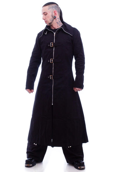 Necessary Evil Mens Highwayman Full Length Trenchcoat
