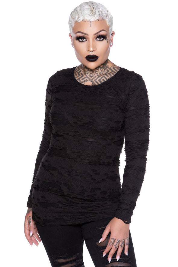 Night Shadow Long Sleeve Top