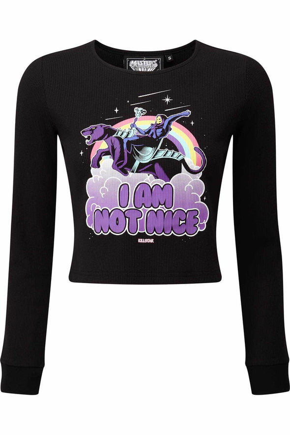 Killstar Skeletor Not Nice Thermal Top - Vampirefreaks Store