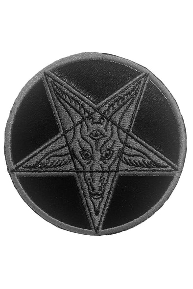 Black Faux Leather Satanic Patch