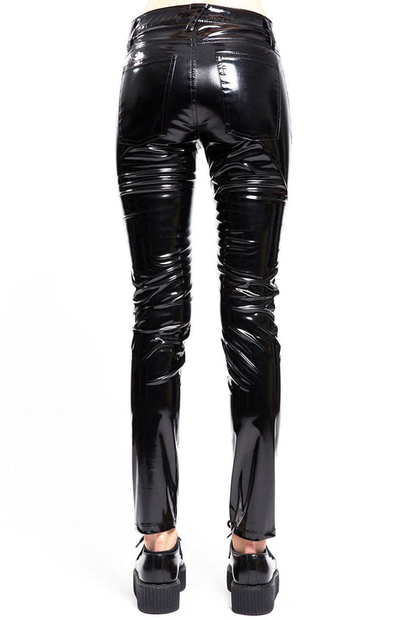 Tripp Women's High Waist Vinyl Pants - Vampirefreaks Store