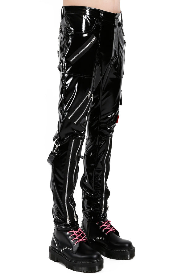 mens black motorcycle leather pants