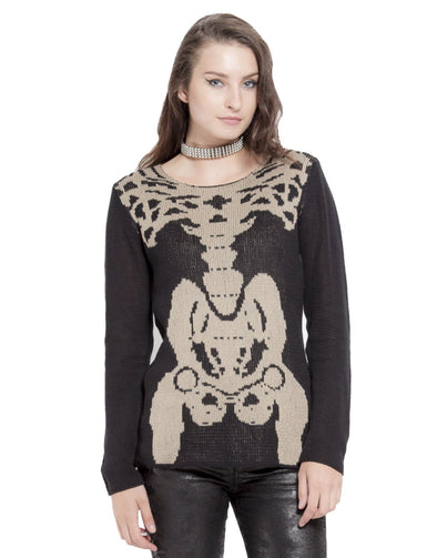 Tripp X-Ray Skeleton Womens Sweater