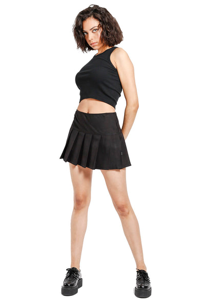 Tripp Black Pleated Skirt