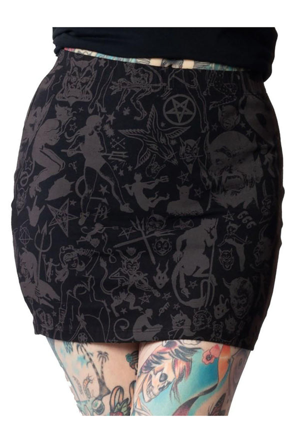 Goat Head Mini Skirt