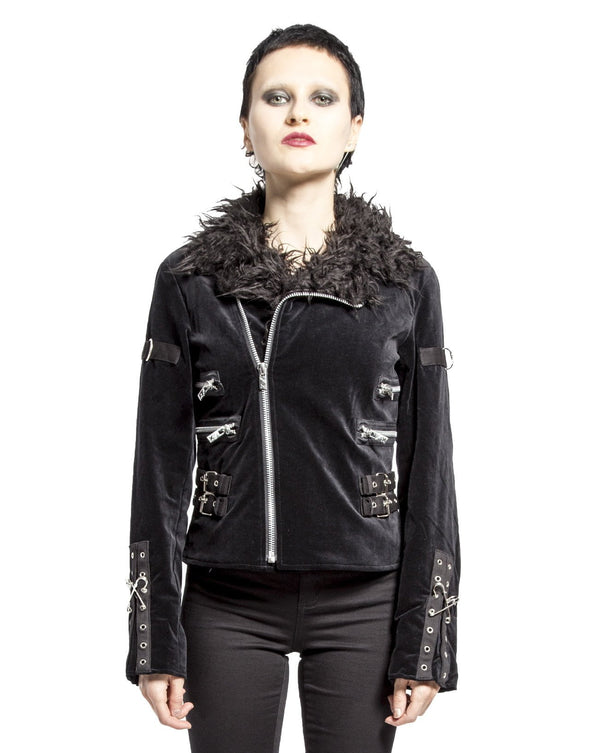 Tripp Velvet Fur Monster Cycle Jacket