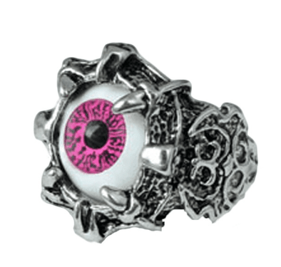 Claw Clutching Eyeball Ring - Pink