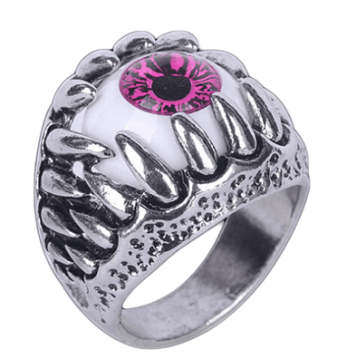Eyeball In Teeth Ring - Pink - Vampirefreaks Store