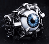 Beier Claw Clutching Eyeball Ring - Blue - Vampirefreaks Store