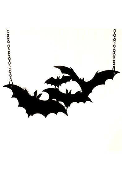 Bat Necklace - 4 Acrylic Bats