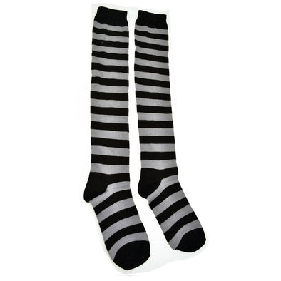 Poizen Industries Long Stripe Socks (Gray)