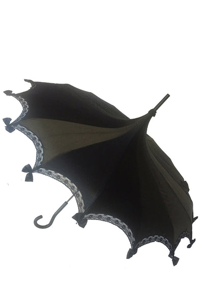 Hilarys Vanity Black Satin Umbrella