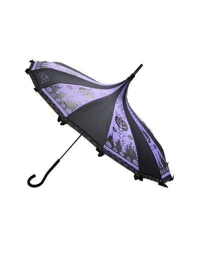 Hilarys Vanity Halloween Umbrella (Purple)