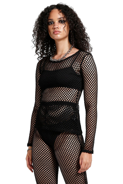 womens gothic mesh top