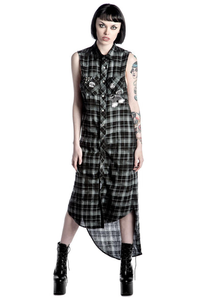 Killstar Unplugged Woven Maxi Dress - Vampirefreaks Store