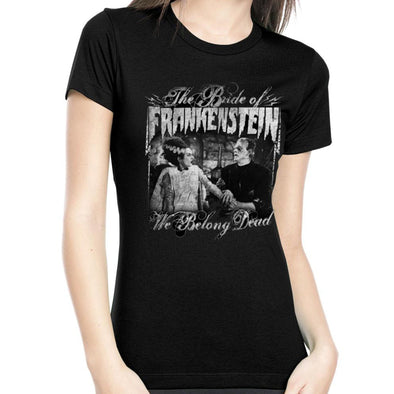"Rock Rebel  ""We Belong Dead"" The Bride of Frankenstein Women's Tee"
