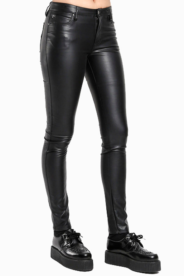 Tripp High Waist Faux Leather Pants - Vampirefreaks Store