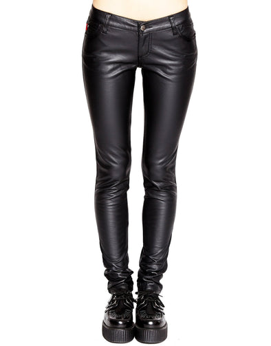 Tripp NYC Ladies Deville Pleather Jeans