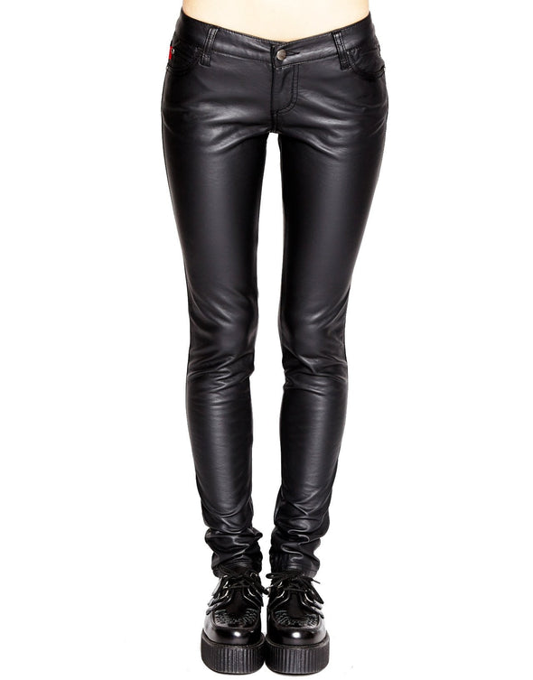 Tripp NYC Ladies Deville Pleather Faux Leather Jeans - Vampirefreaks Store