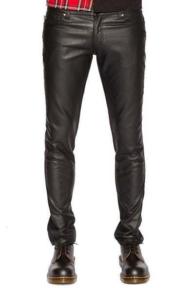 Tripp Mens Faux Leather / Vegan Pleather Pants - Vampirefreaks Store