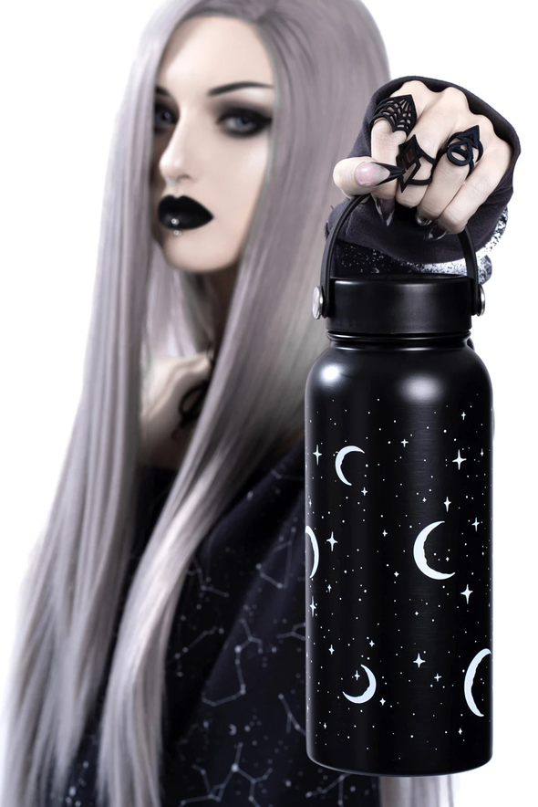 gothic moon water bottle