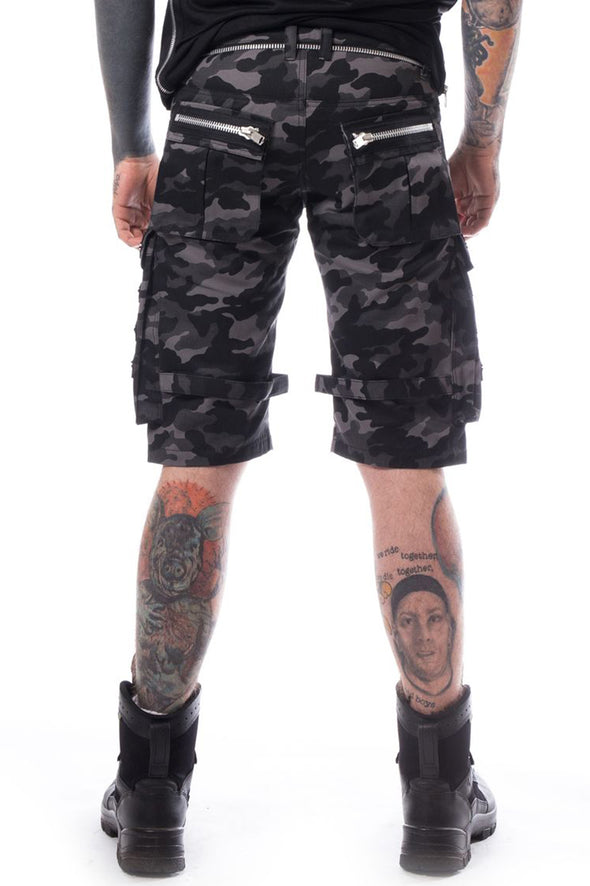 Heartless Arvid  Shorts Grey Camo