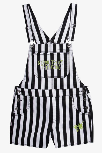 Beetlejuice Stripe Shortalls (Overall Shorts)