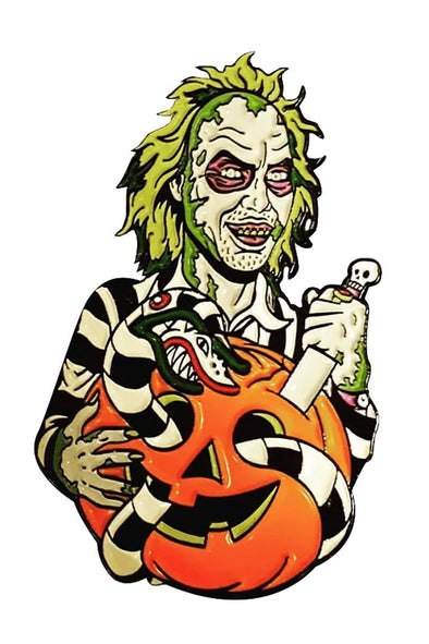 Beetlejuice Pumpkin Pin
