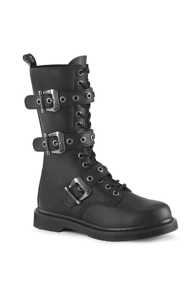 BOLT-330 Boots [Black Vegan Leather]