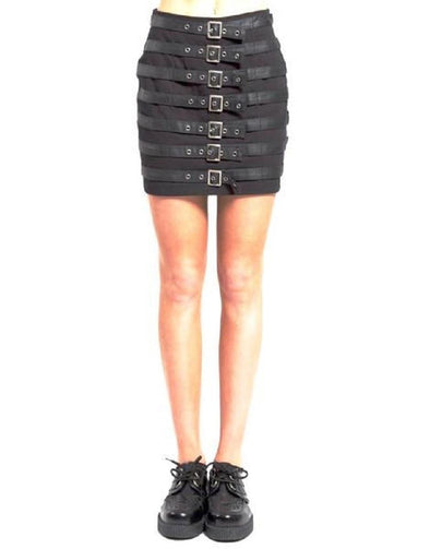 Tripp Buckle Up Womens Skirt - Vampirefreaks Store