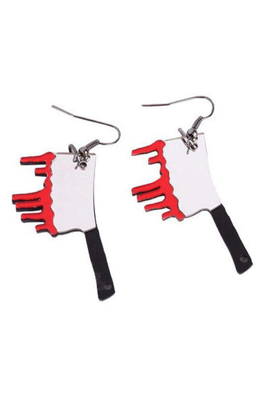 Bloody Butcher Knife Earrings