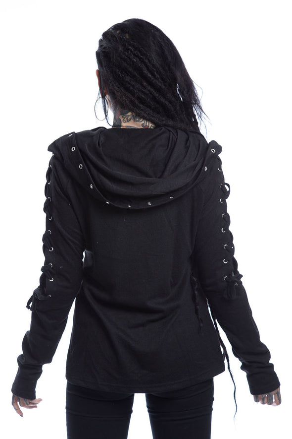 womens witch cowl hood hoodie jacket