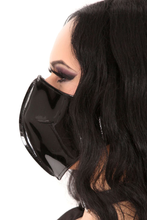Black Vinyl Face Mask
