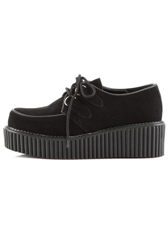 Haunt the Night CREEPER-101 Shoes [Black Suede]