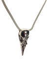 Crow Skull Necklace - Pewter