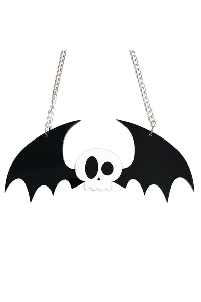 Cute winged skull necklace - Vampirefreaks Store