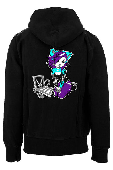Cyber Kitty Hoodie [Zipper or Pullover]
