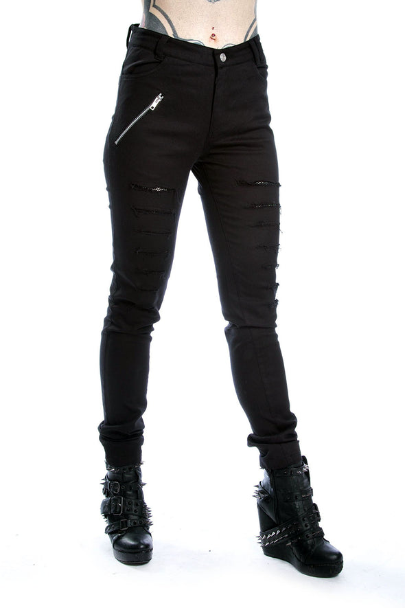 womens black distressed skinny jeans