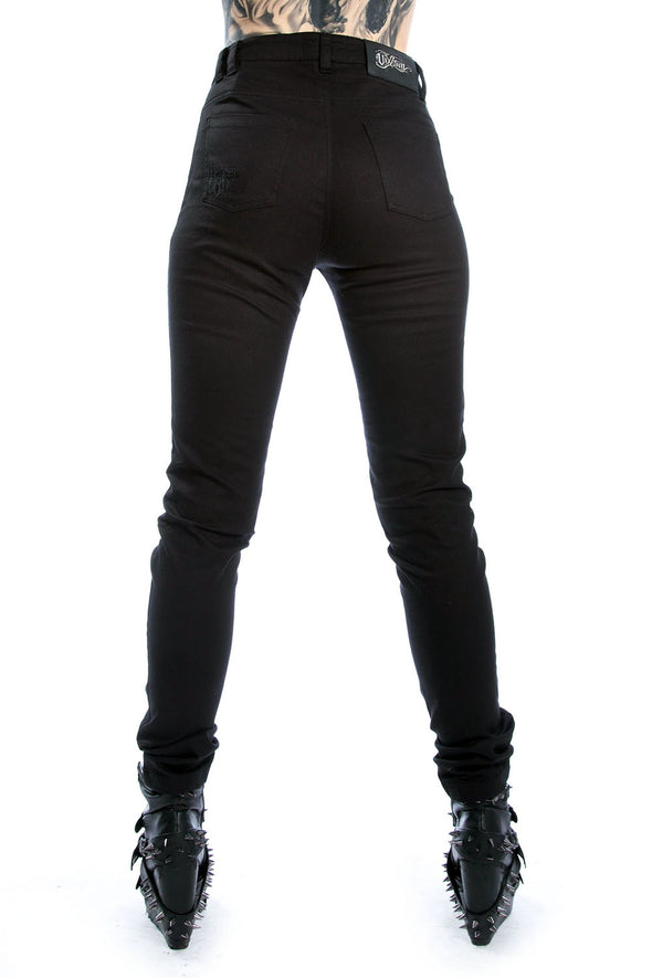 womens high waisted distressed pants