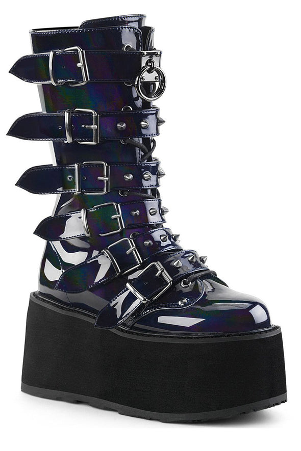 Hologram Hell Boots [Black Vegan Leather]