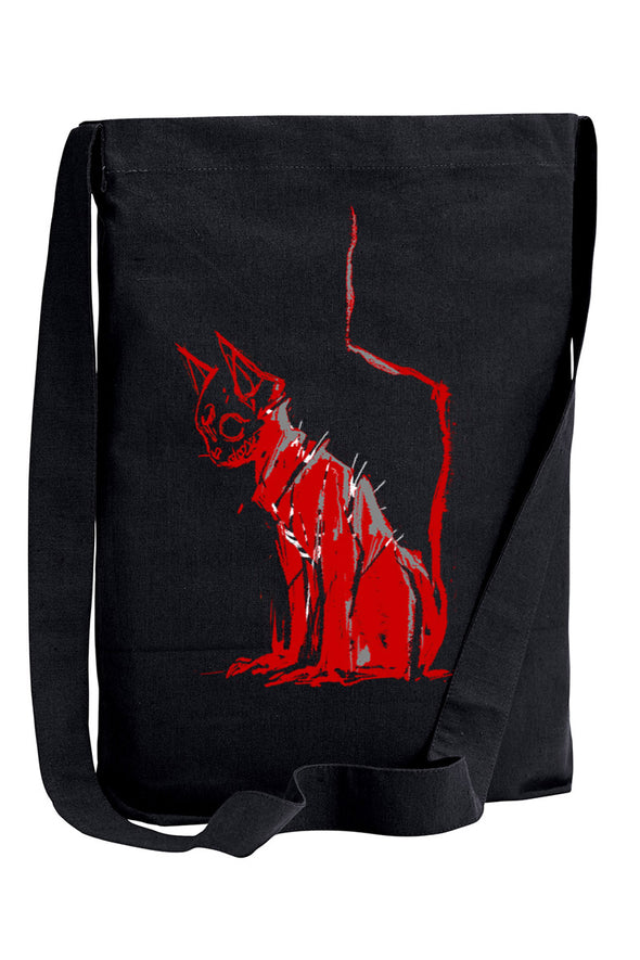 VampireFreaks Dead Kitty Sling Shoulder Tote Bag - Vampirefreaks Store