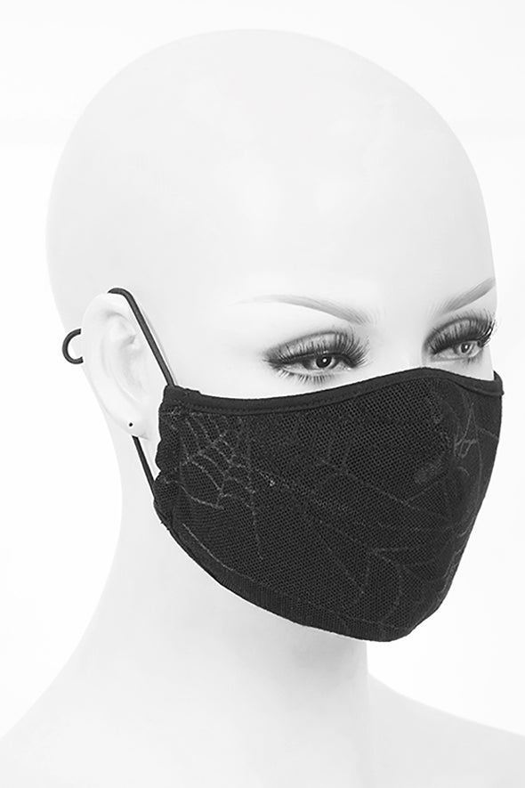 Devil Fashion Spiderwebs Face Mask with 2 Filters - Vampirefreaks Store
