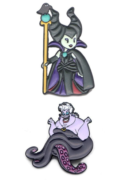 Maleficent + Ursula Villains 2-Pin Set - Vampirefreaks Store